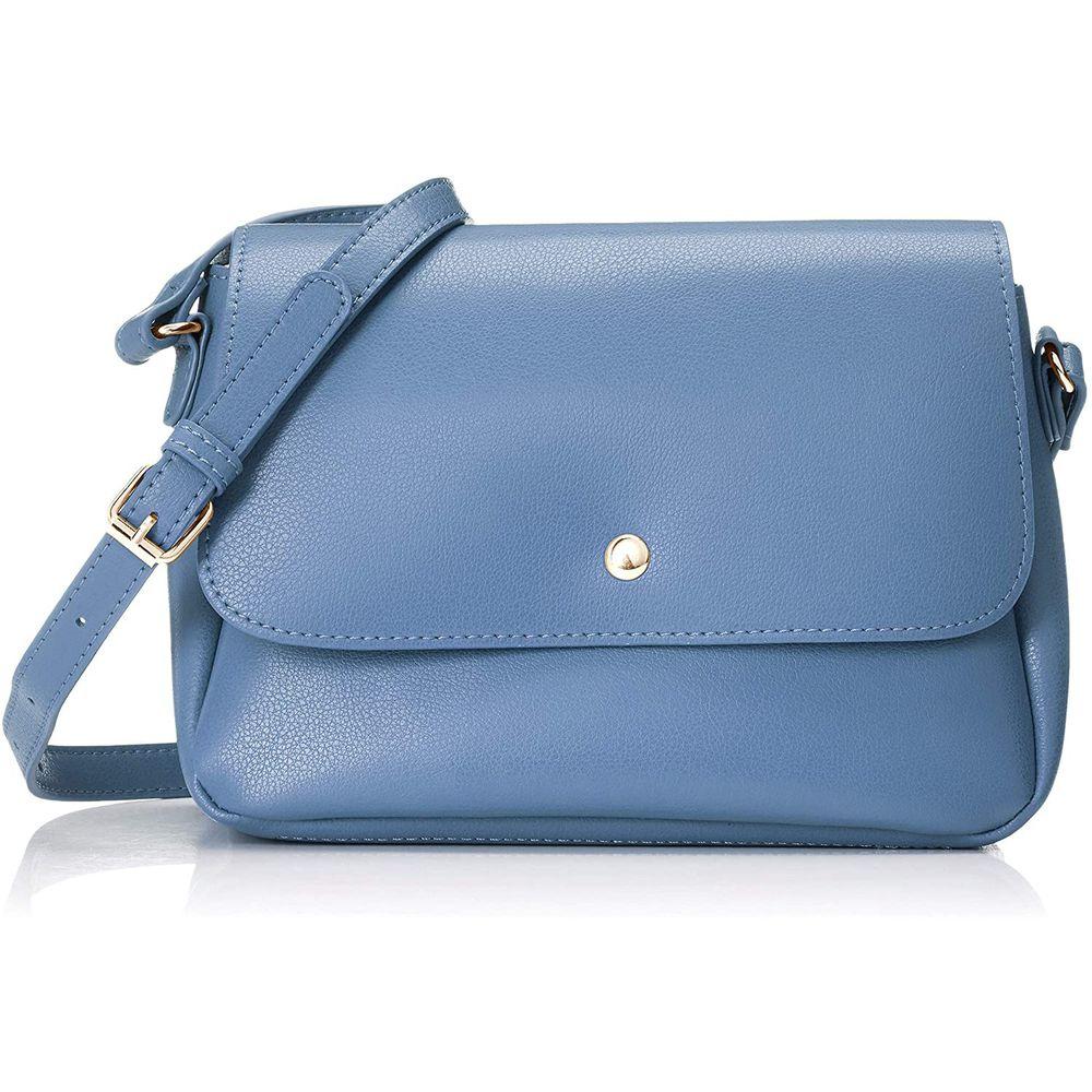日本 Legato Largo - 輕量PU時尚單背包-BG藍灰色 (16x23x10cm 肩背約88~122cm 附IC卡夾*1)