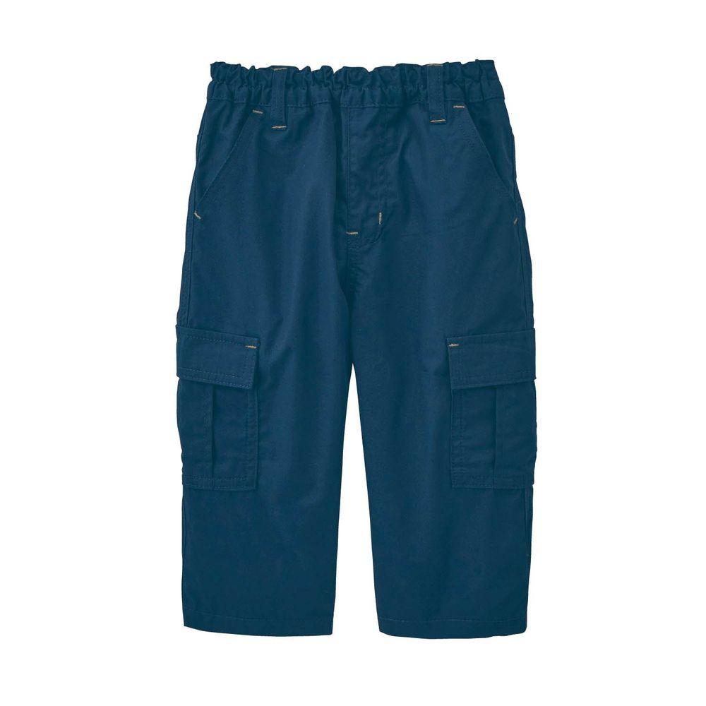 日本千趣會 - GITA 純棉接觸冷感七分褲-深藍