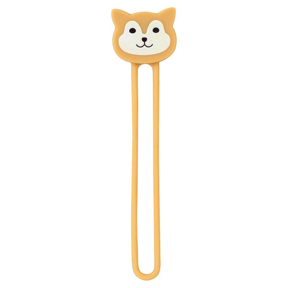 日本文具 LIHIT - 多功能磁鐵收納繩兩入組-柴犬 (2.2x9cm)