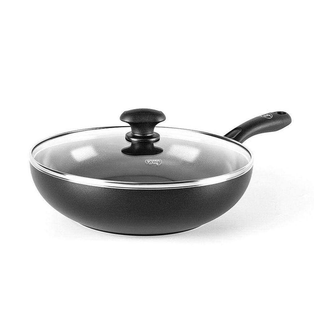 比利時 GreenPan - GreenChef 鑽石系列不沾鍋炒鍋-加蓋-28cm