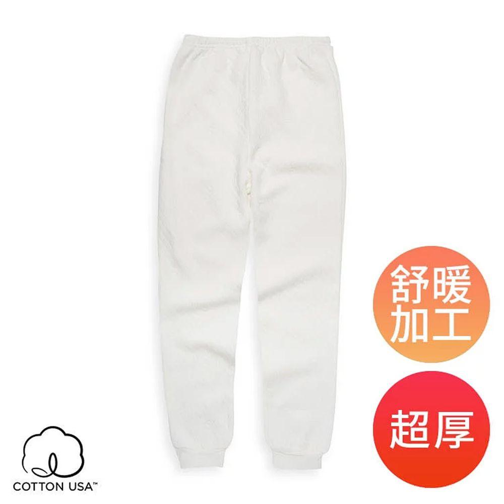 Annypepe - 兒童純棉舒暖三層衛生褲-米白 (90-150cm)