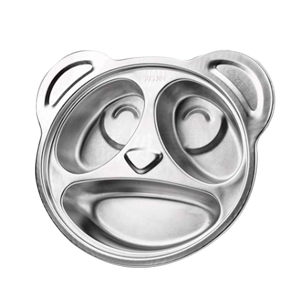 ZEBRA 斑馬 - 304不銹鋼兒童卡通餐盤 (20CM)-三格