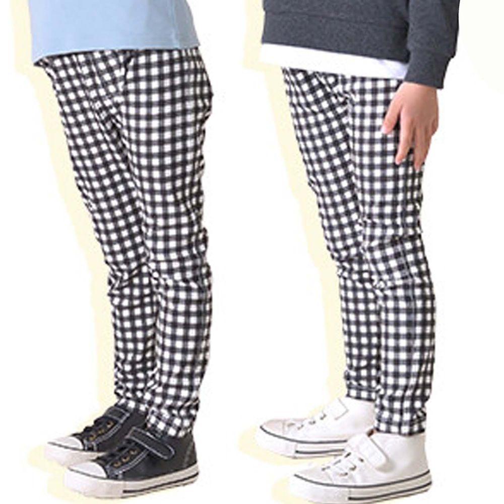 日本 TORIDORY - 百搭超彈力內搭褲-格子-黑白