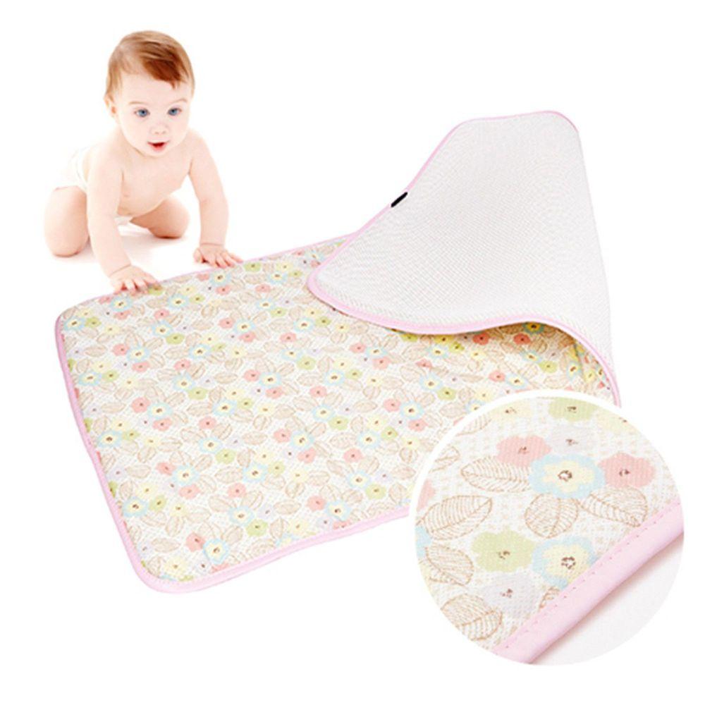 韓國 GIO Pillow - 超透氣排汗嬰兒床墊-粉漾花朵 (M號)