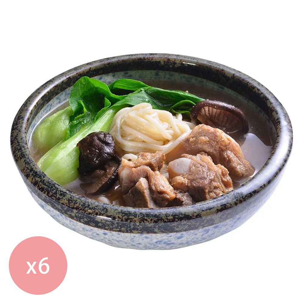 【國宴主廚温國智】 - 冷凍肉骨茶麵700g x6包