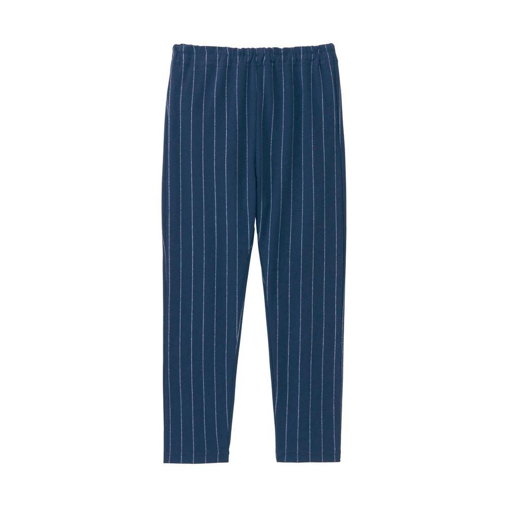 日本千趣會 - GITA 超彈力純棉10分內搭褲-深藍直條紋