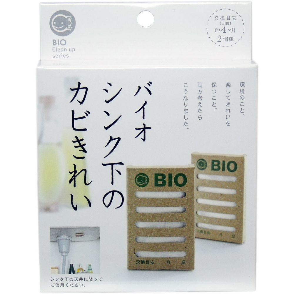 日本代購 - 日本製 POWER BIO 防霉 / 除臭貼片-流理台用-2入組
