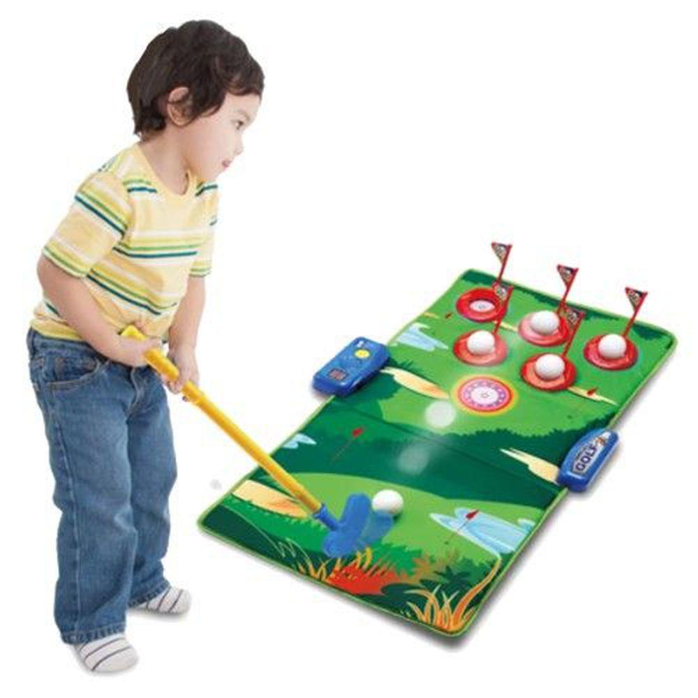 DJ Toys - 高爾夫聲光遊戲地墊樂園-推桿2支+高爾夫球組