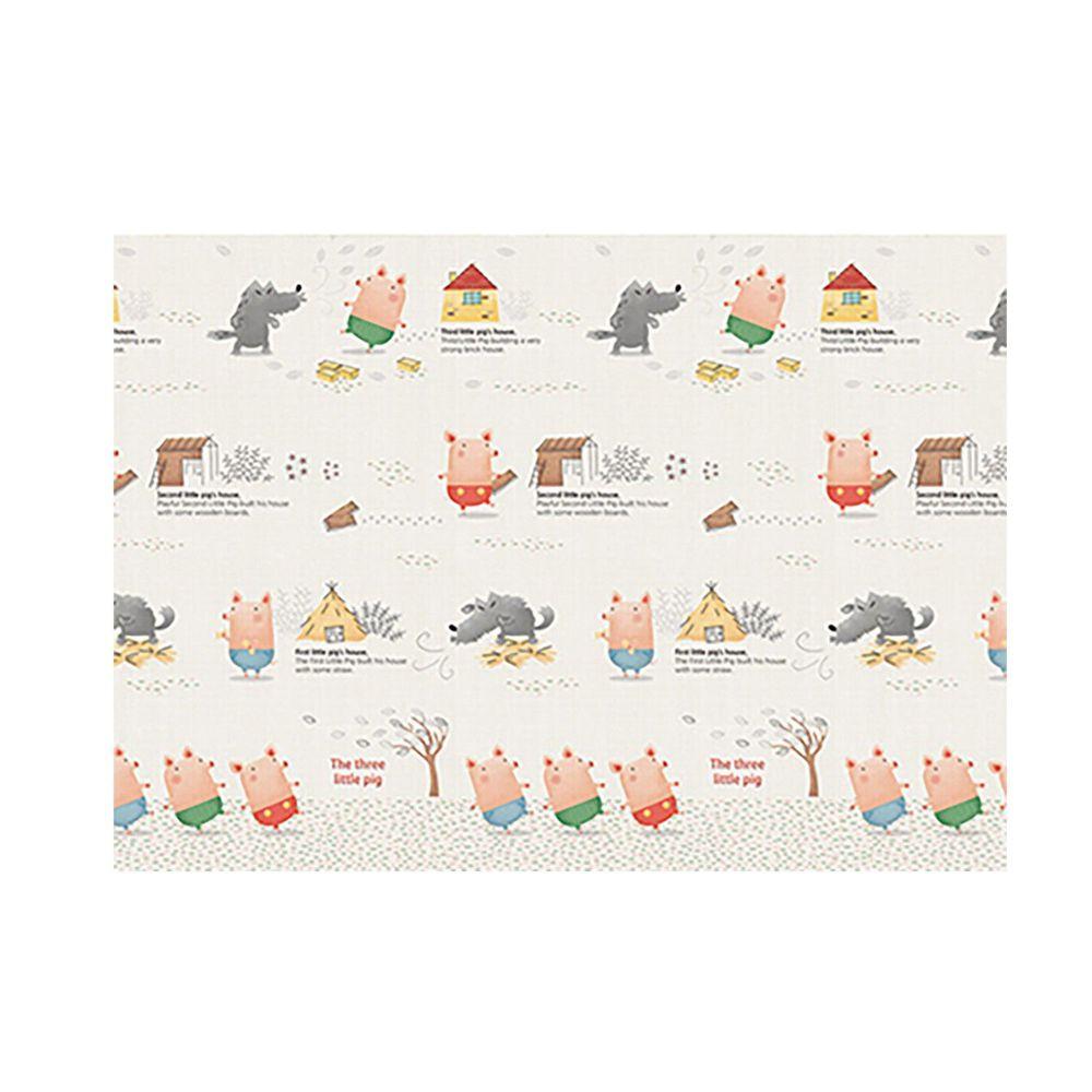 韓國 Parklon 帕龍 - 單面切邊地墊-三隻小豬 (200x150x1cm)