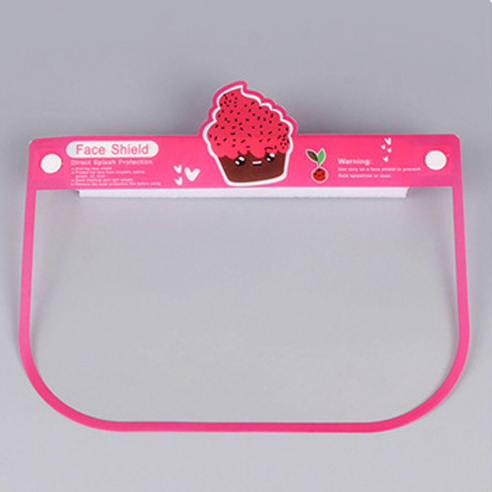 隔離飛沫兒童防護面罩-蛋糕-粉色 (約26x18.5cm)