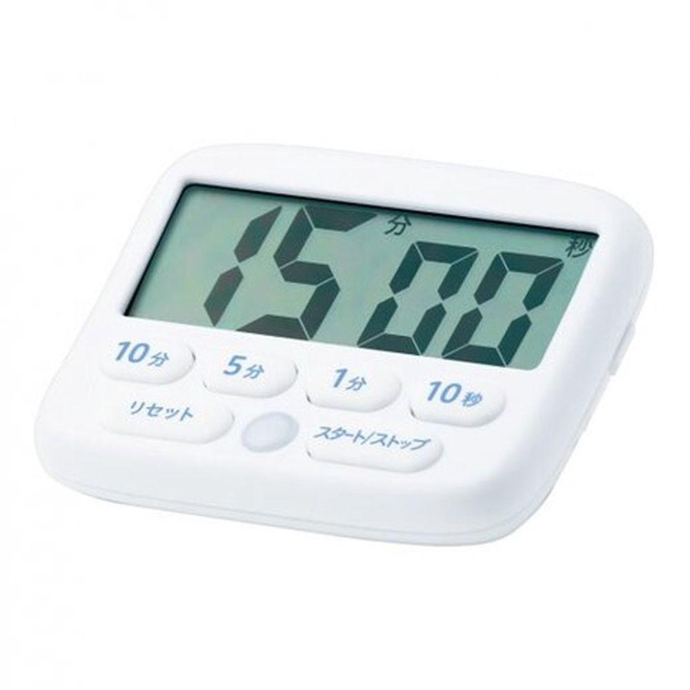 日本文具 SONIC - 專注力集中 斜面倒數計時器(可消音發光提示)-白