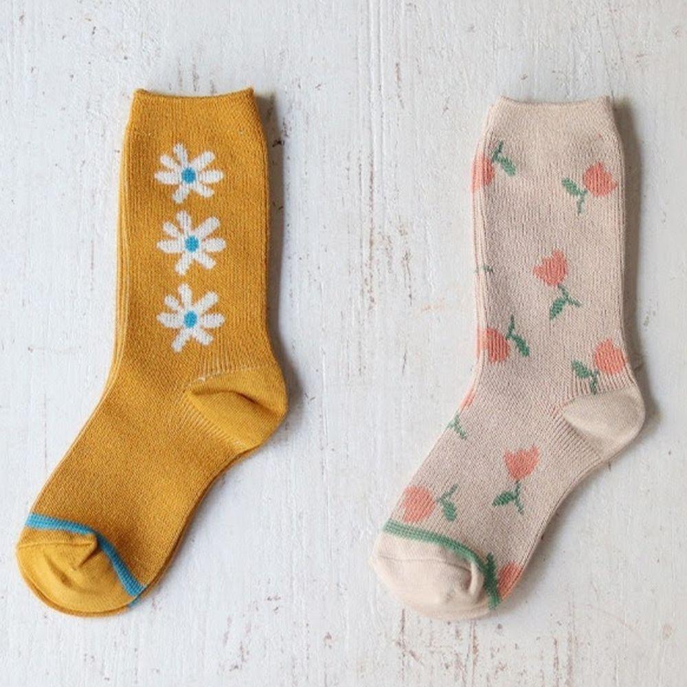 韓國 Kokacharm - 韓國製踝襪-Blossom-二件組