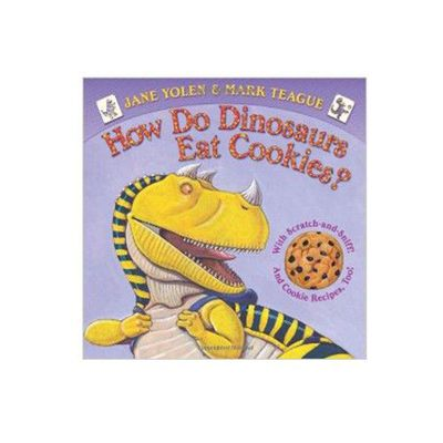 How do dinosaurs eat cookies
