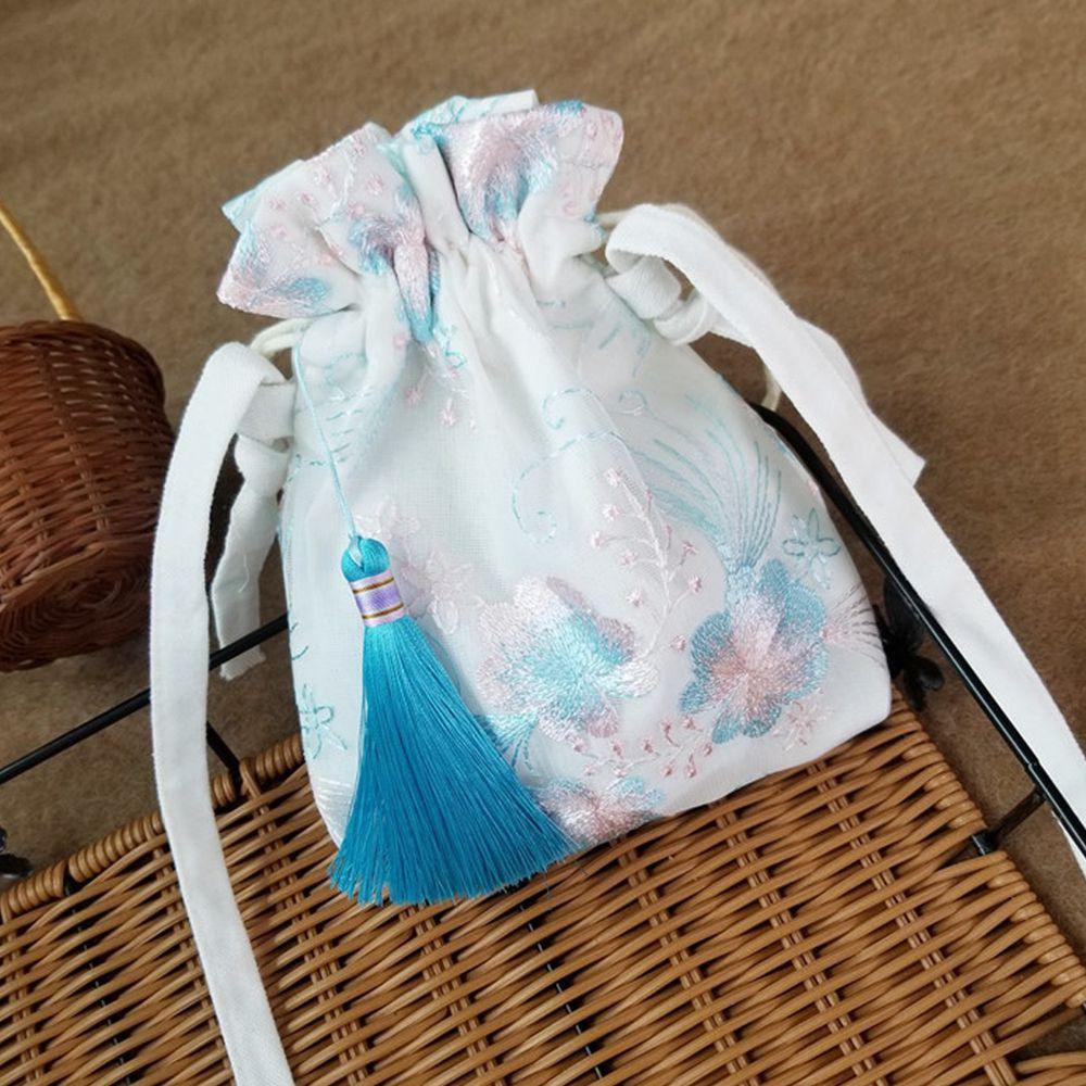 漢服古風刺繡小荷包-清新藍