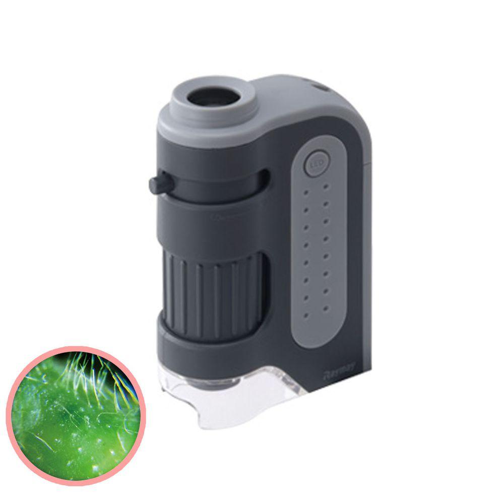 日本 Raymay - 攜帶式隨身顯微鏡-60-120倍率-灰