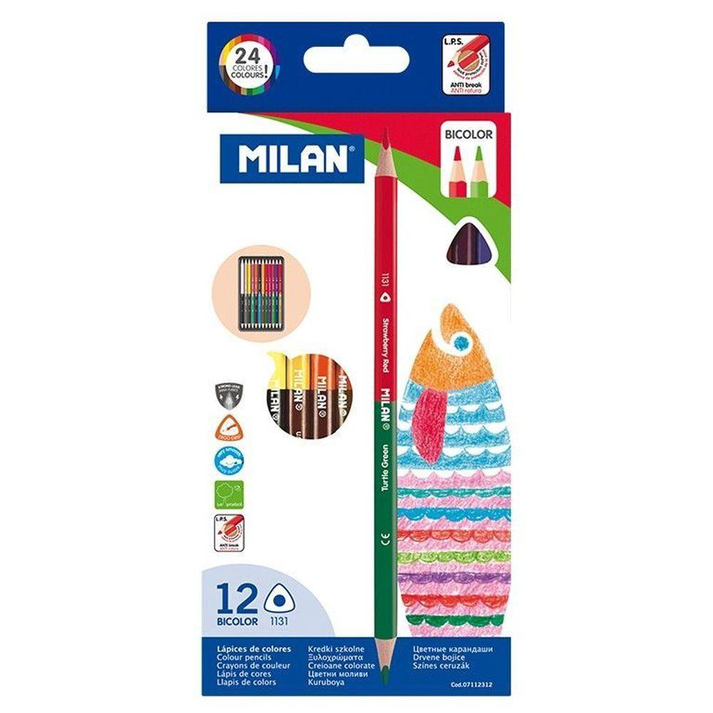 MILAN - 雙頭色鉛筆12入24色