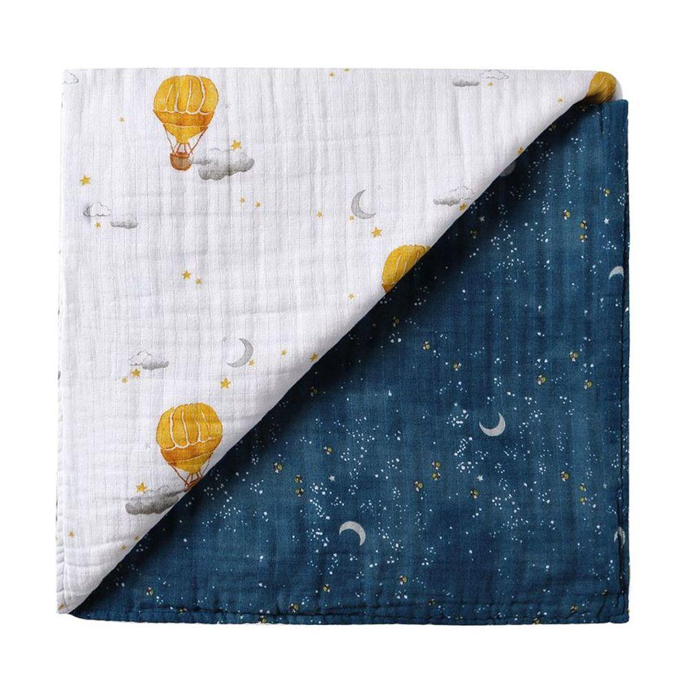 美國 Malabar baby - 有機棉被毯(四層紗)-夜暮星辰 (120*120cm)