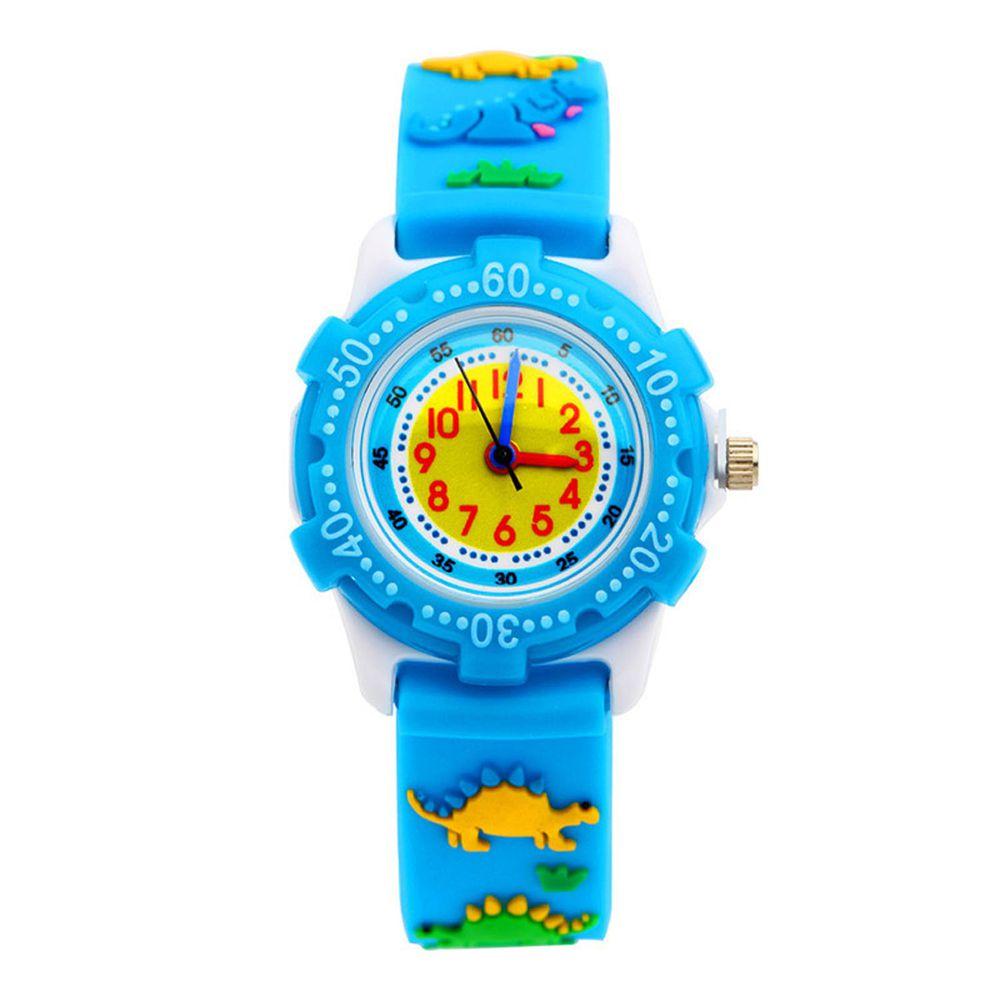 3D立體卡通兒童手錶-可旋轉錶圈-藍色劍龍