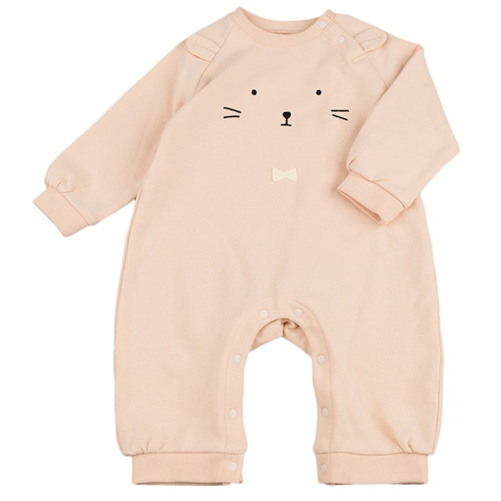 akachan honpo - 分腳包屁衣 動物-粉紅色