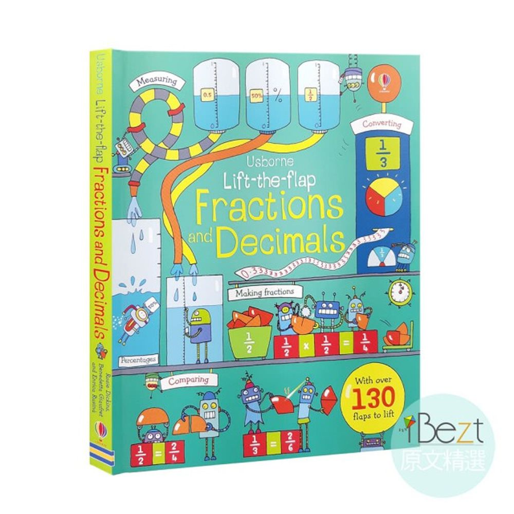 Usborne Lift-the-flap Fractions and Decimals