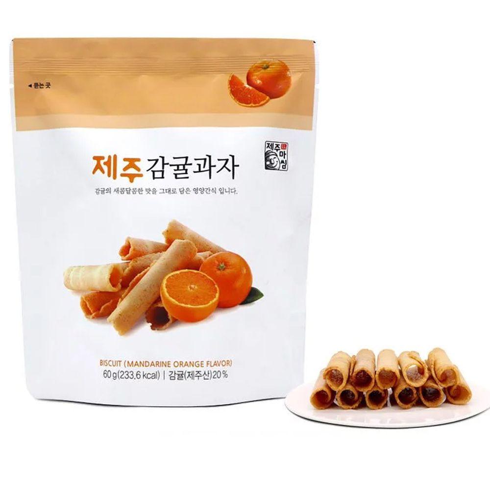 韓國濟州爸爸 - 蛋捲脆脆-柑橘風味-效期到2021-12-11