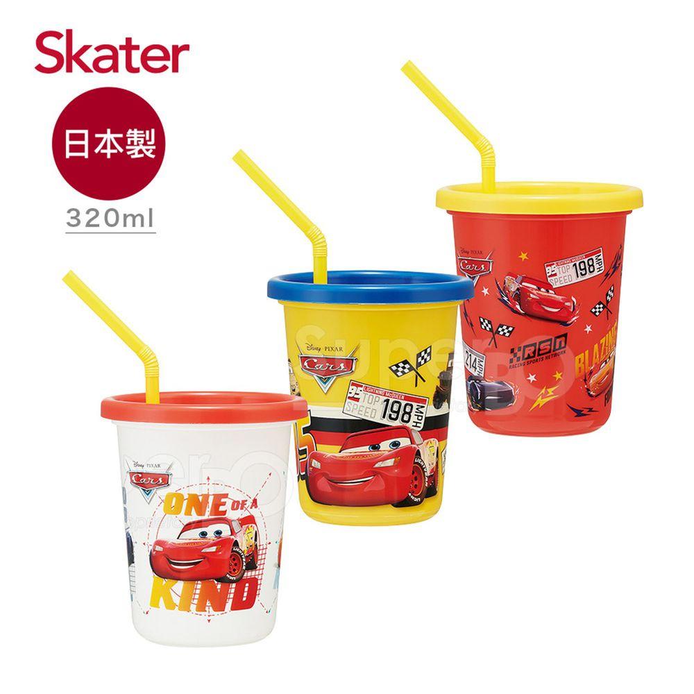 日本 SKATER - 日本製3入水杯(320ml)-閃電麥昆