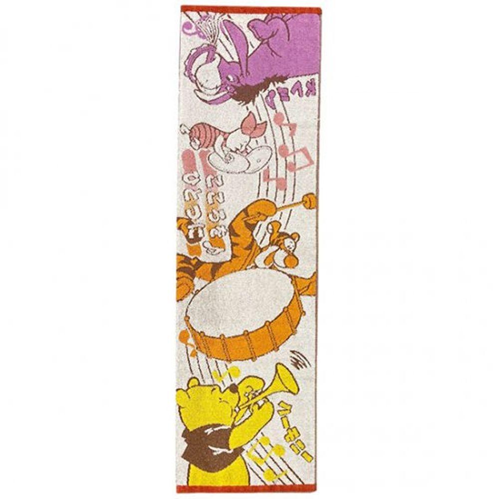 日本代購 - 卡通長型運動毛巾-維尼樂隊 (34x100cm)