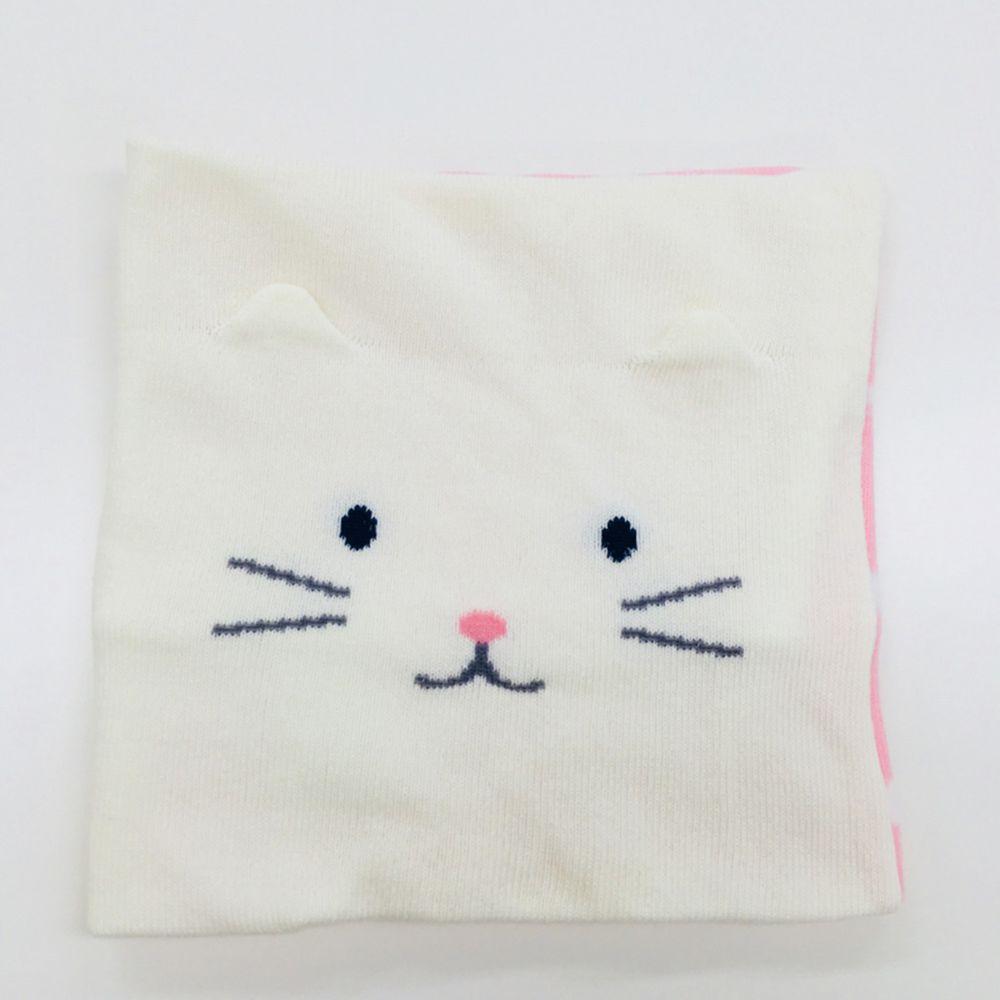 akachan honpo - 肚圍-羅紋針織款-小貓 粉紅色 (80~95cm)