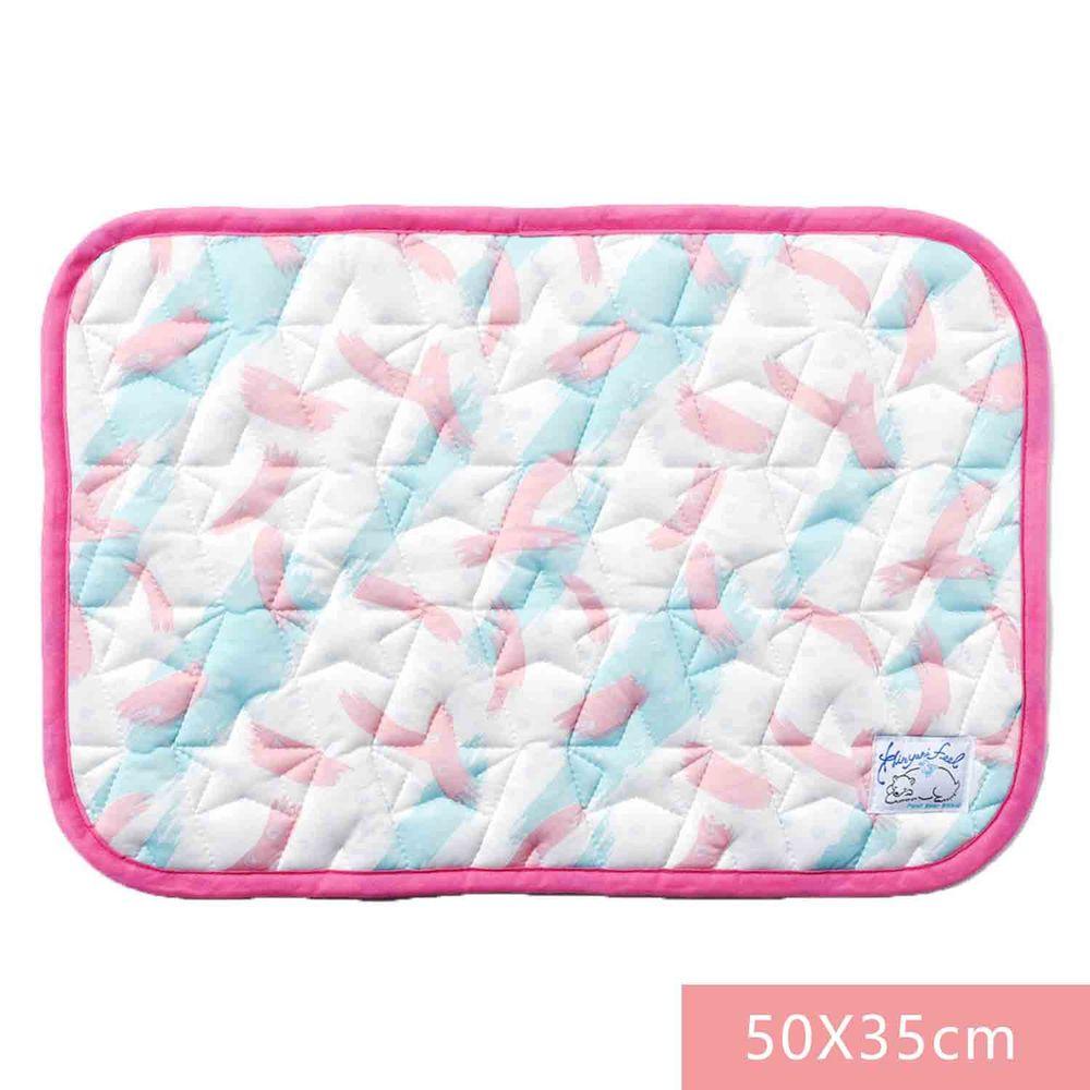 日本SHF - 二重紗內芯涼感枕頭墊-繽紛畫筆-粉藍 (52x35cm) (W52×H35cm)