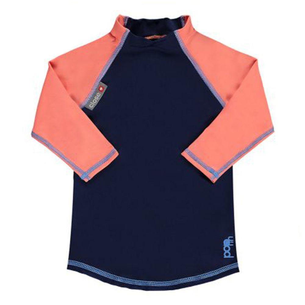 英國Pop-in - 嬰兒抗UV防曬泳衣/長袖-珊瑚藍