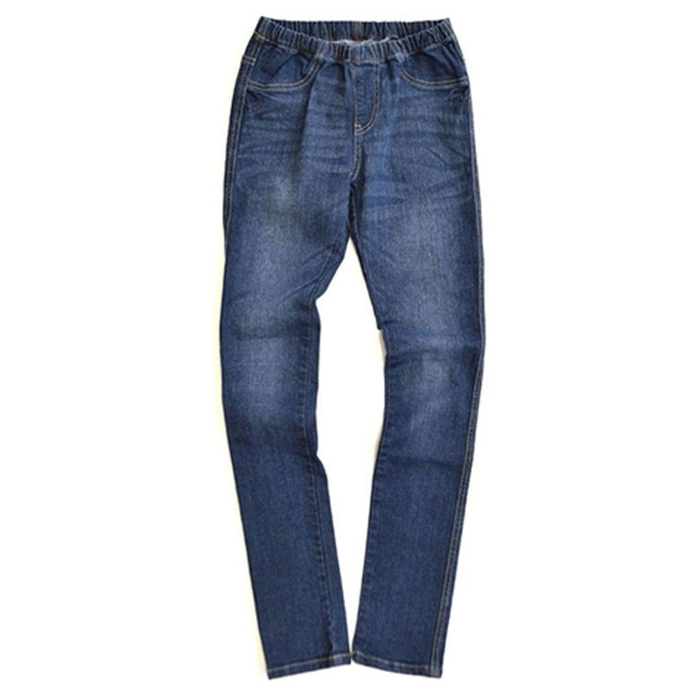 日本 zootie - 顯瘦美腿 個性丹寧窄管牛仔褲-水洗藍