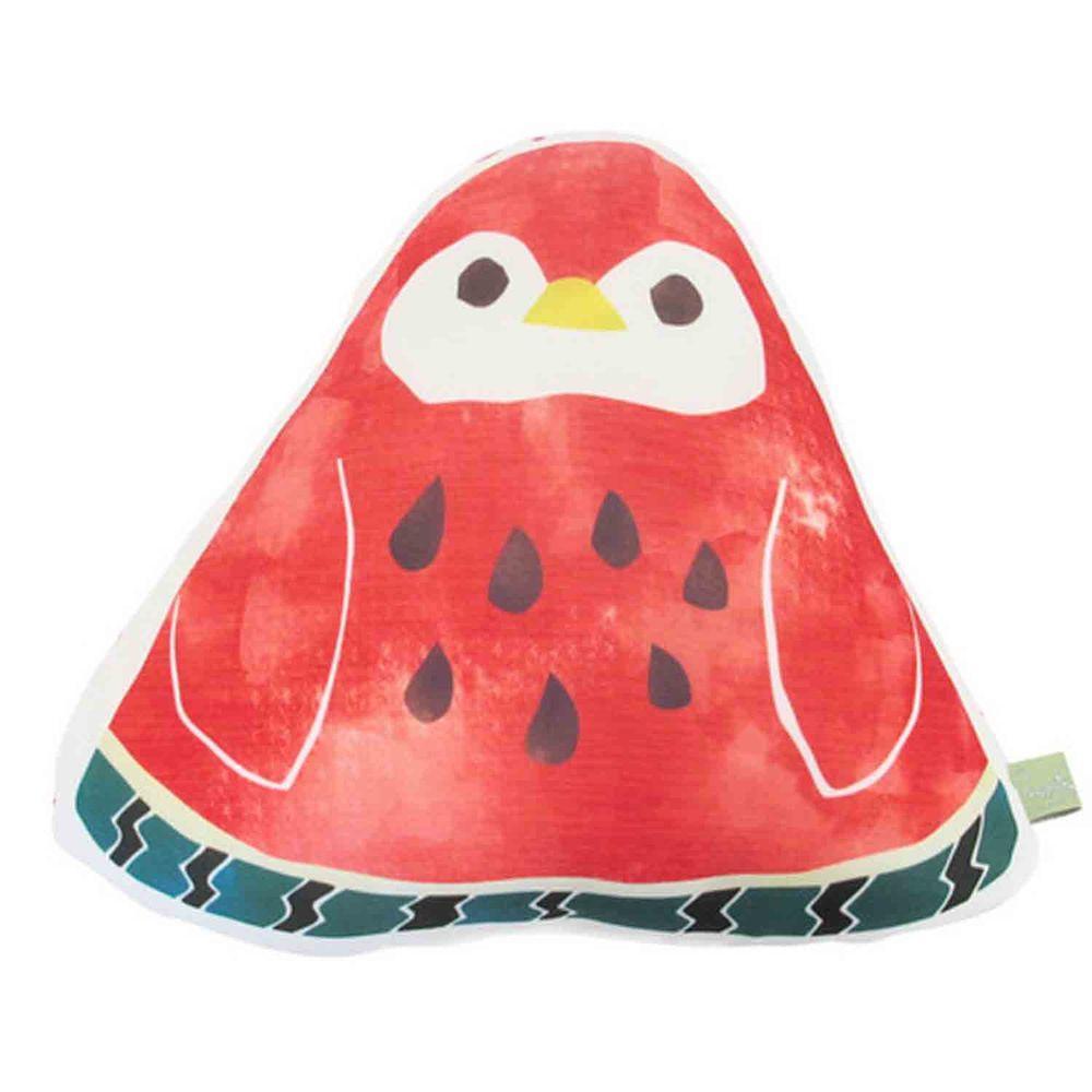 日本 DAIKAI - 接觸涼感造型抱枕-西瓜企鵝 (33x27cm)