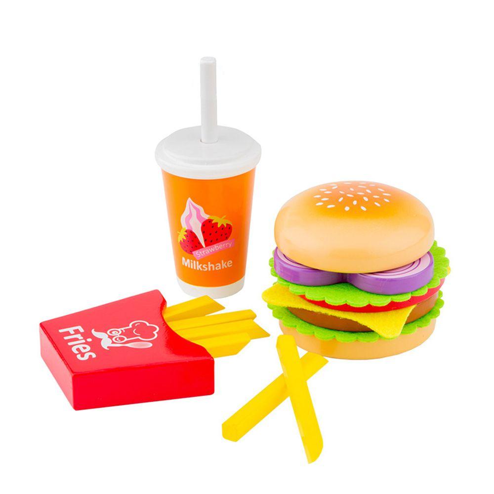 荷蘭 New Classic Toys - 牛肉起司漢堡套餐
