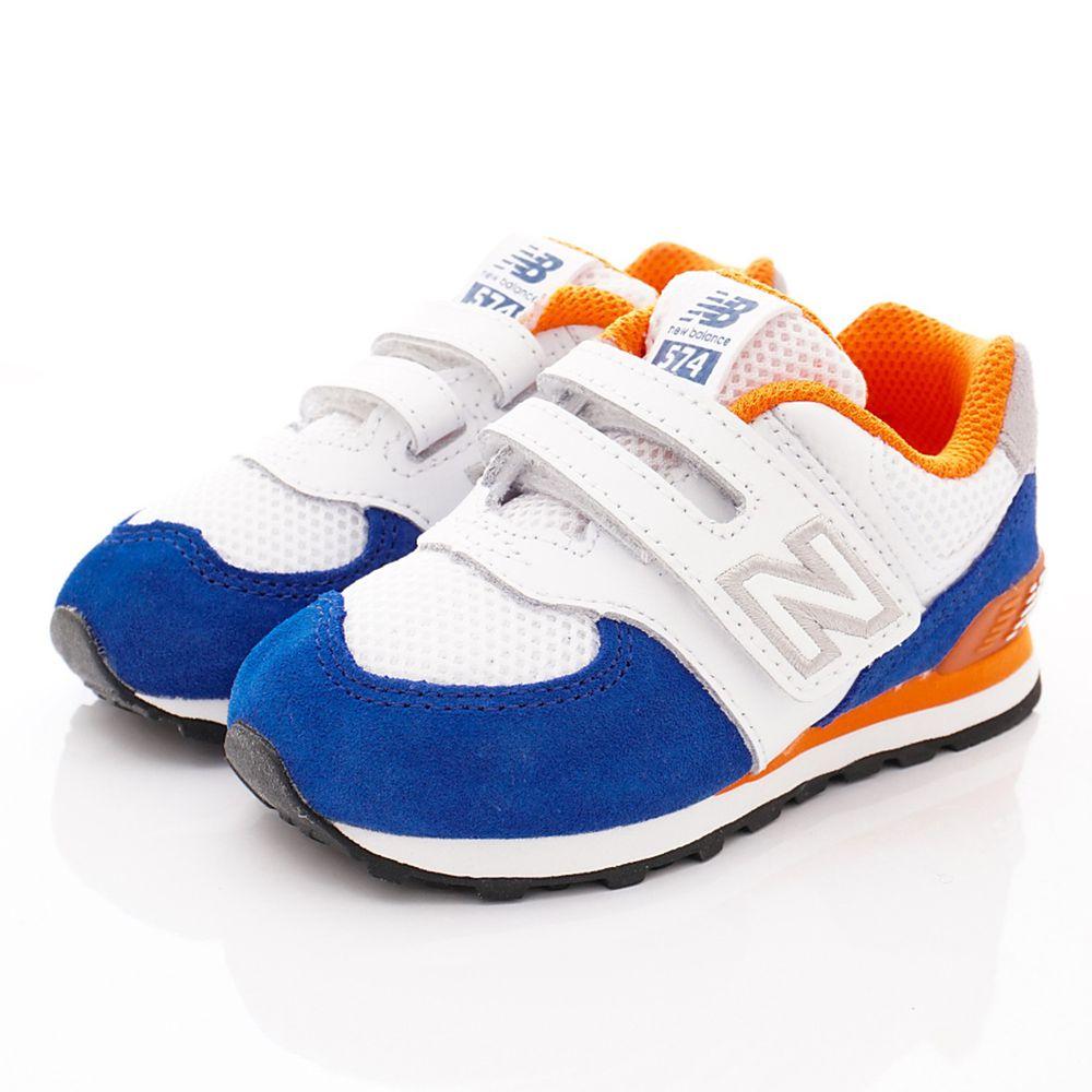 New Balance - New Balance慢跑鞋-574機能慢跑款(中小童段)-白藍橘