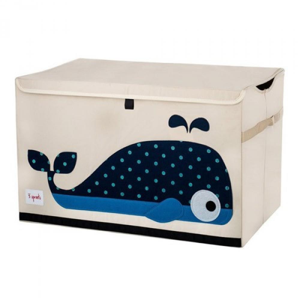 加拿大 3 Sprouts - 大型玩具收納箱-小鯨魚