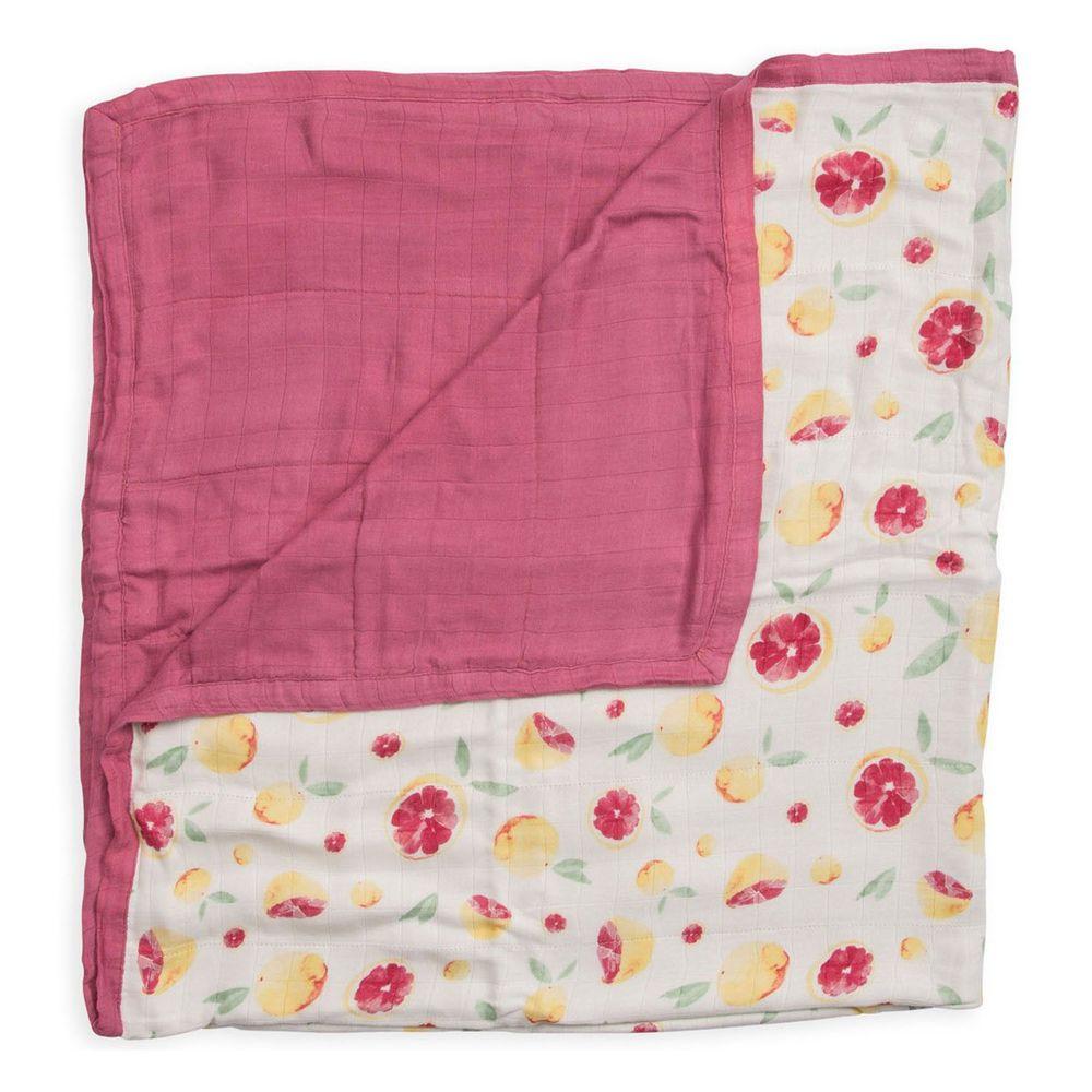 美國 Little Unicorn - 竹纖維四層紗布毯(被子)-柚美麗