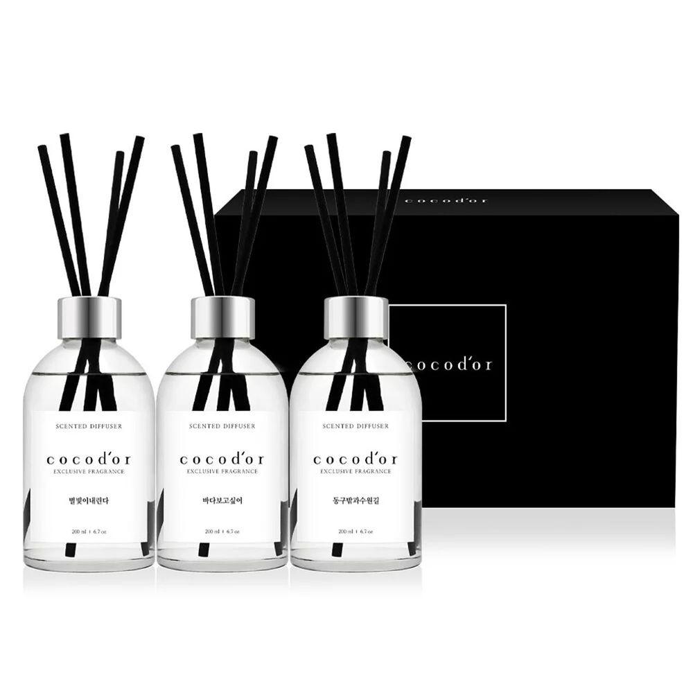 韓國 cocodor - BLACK ONE 擴香禮盒-雨後果園/湛藍大海/粉紅星砂-200ml*3入/盒