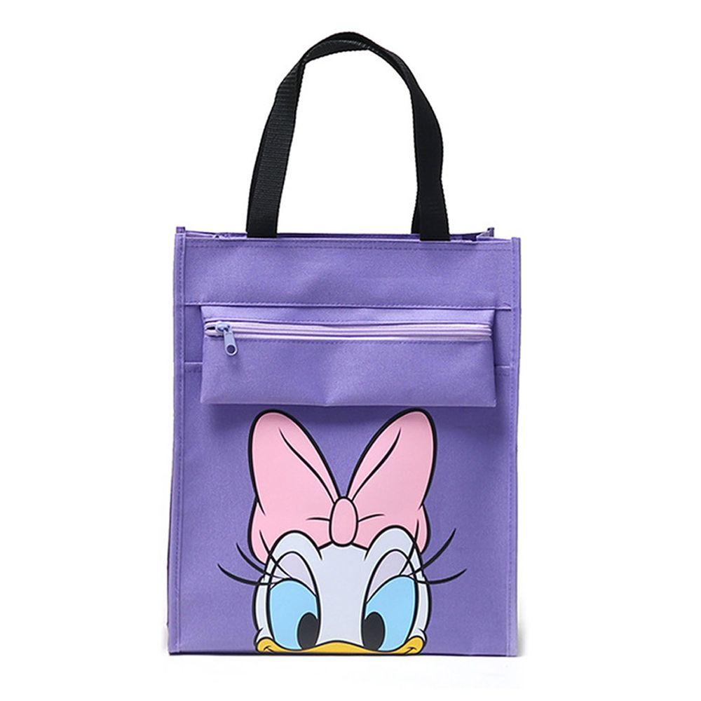 大容量手提袋/補習袋(A4可放)-卡通人物黛絲-紫色