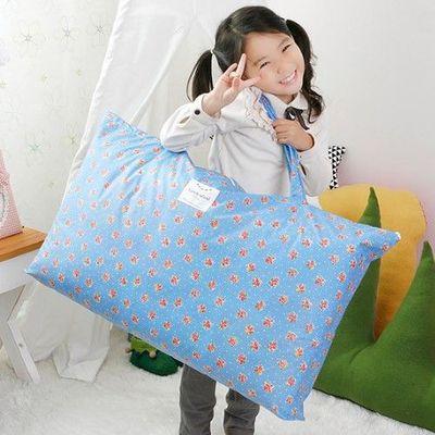 防水睡袋收納袋-水藍花朵