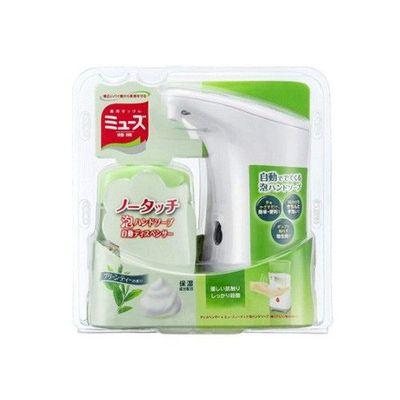自動感應式泡沫給皂機(白) 組合-綠茶 (約18.3×9.5×18.8 cm)