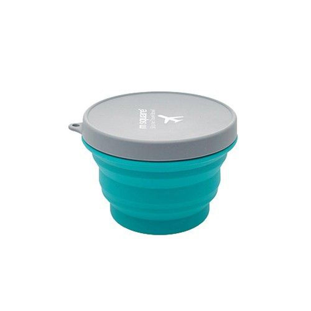 m square - 摺疊矽膠碗 M-藍色-500ml