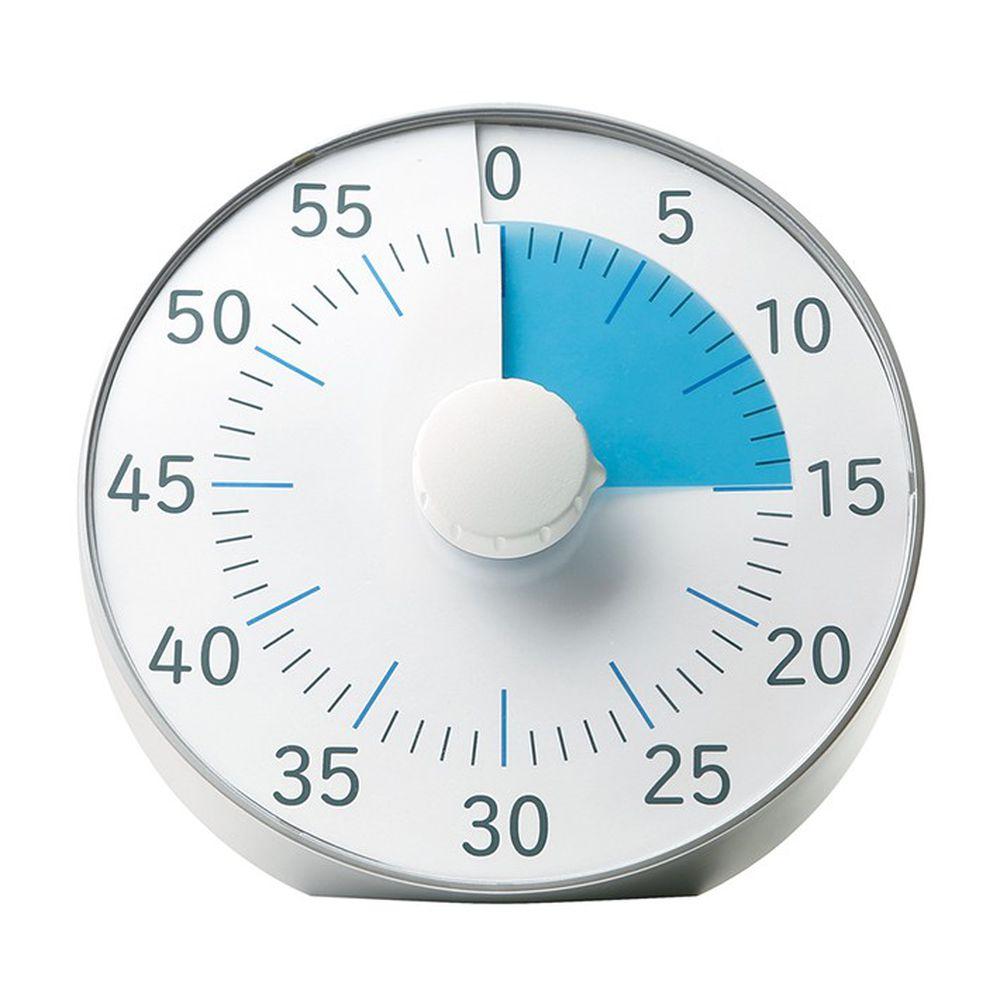 日本文具 SONIC - 時間流逝實感 倒數時鐘/倒數器-銀 (19cm)