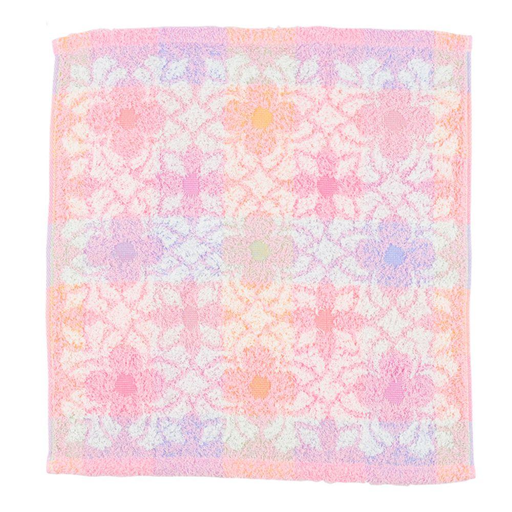 akachan honpo - 今治方巾-花紋-粉紅色 (34×35cm)