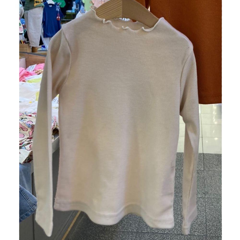 韓國 Orange Mom - 卷卷領針織上衣-白