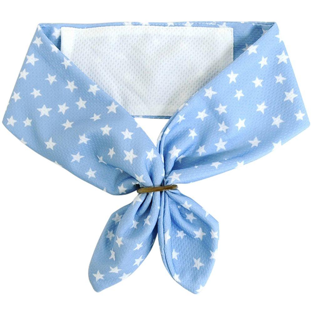 日本 DAIKAI - 抗UV接觸冷感 水涼感領巾(可放保冷劑)-滿天星空-水藍 (70x8cm)