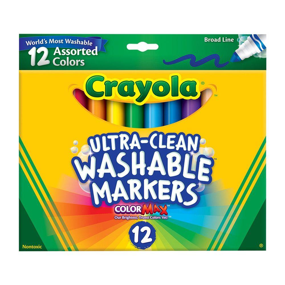 Crayola繪兒樂 - 可水洗粗頭彩色筆12色