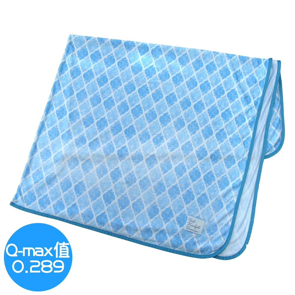 日本 DAIKAI - 接觸涼感毯-菱格-水藍 (100x140cm)