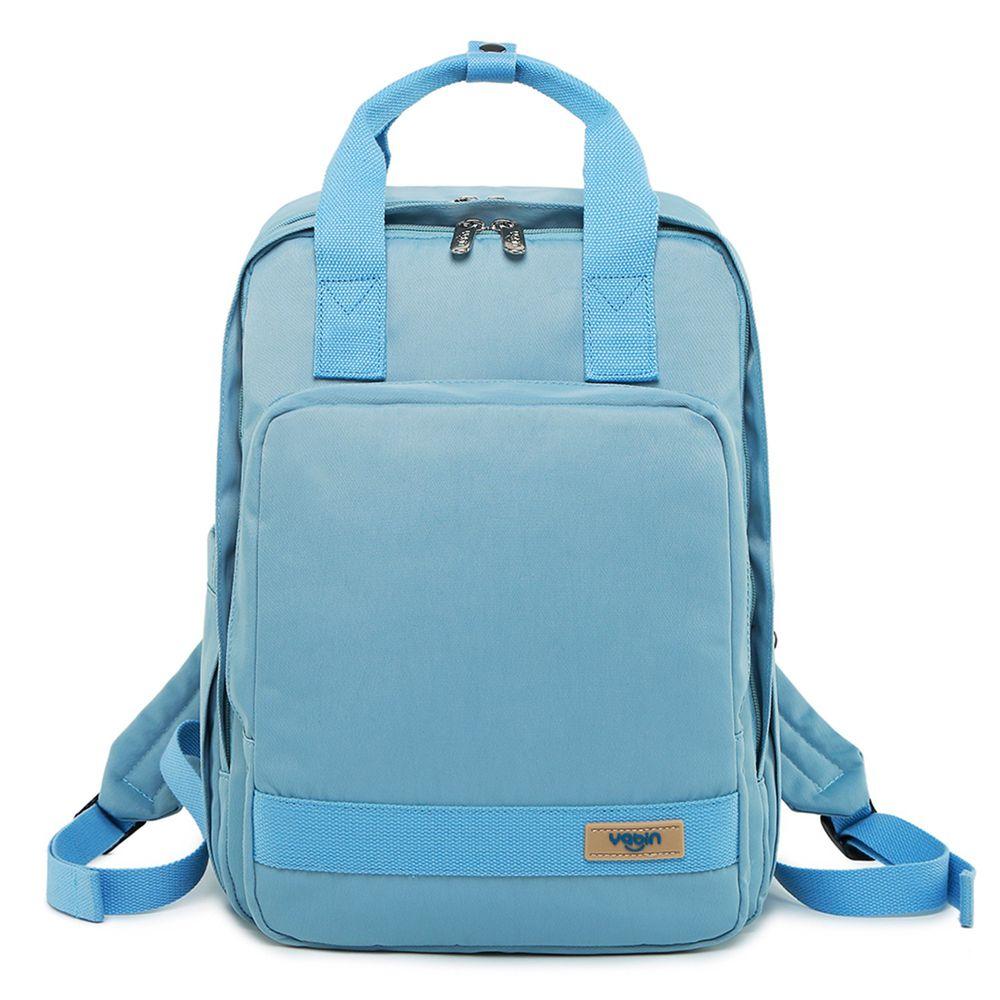 YABIN - 後背媽媽包時尚大容量雙肩包-活力藍
