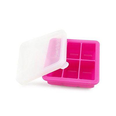 矽膠副食品分裝盒/製冰盒-6 格-玫紅-6格x70mL