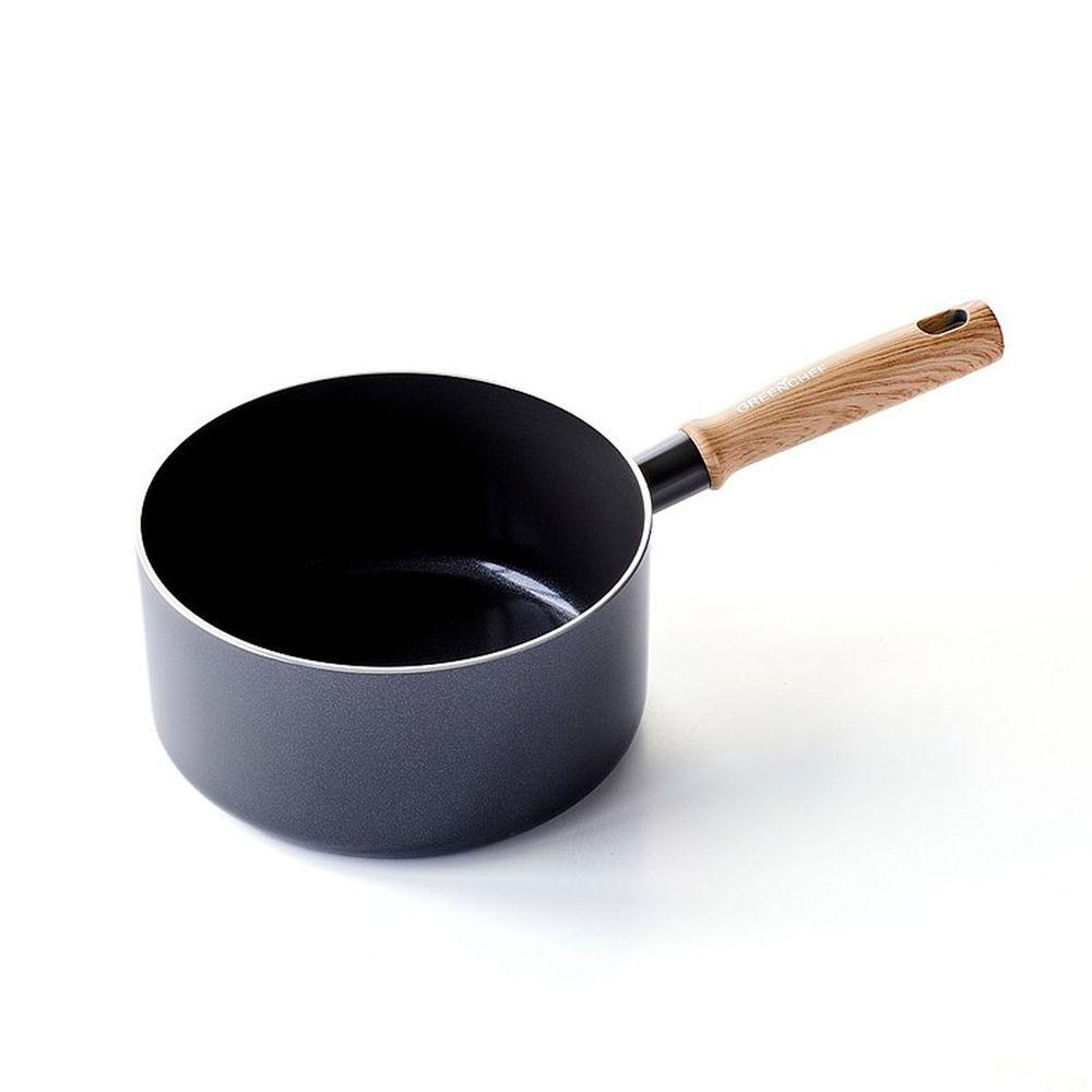 比利時 GreenPan - GreenChef 東京木紋系列不沾鍋單柄湯鍋-鋯石黑-18cm
